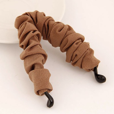 Catholic Coffee Wave Shape Ribbon Decorated Simple Design Rosin Hair clip hair claw