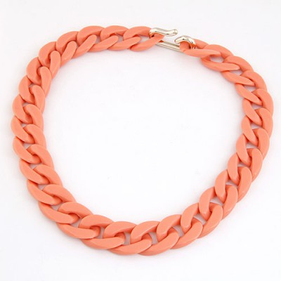 Screw Orange Candy Color Simple Chain Design CCB Chains