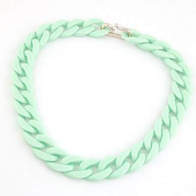Drawstring Light Green Candy Color Simple Chain Design CCB Chains