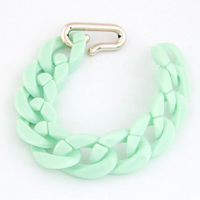 Scene Light Green Candy Color Simple Chain Design CCB Korean Fashion Bracelet