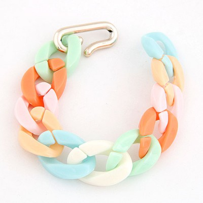 Tory Multicolor Candy Color Simple Chain Design CCB Korean Fashion Bracelet
