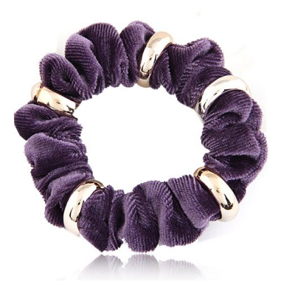 Initial Purple Metal Circle Decorated Wave Shape Design Alloy Hair band hair hoop
