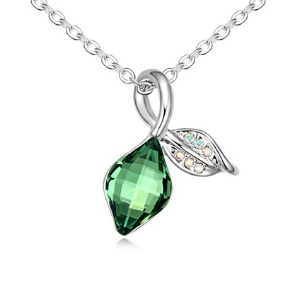 Expired Emerald Green Balloon Shape Pendant Design Austrian Crystal Crystal Necklaces