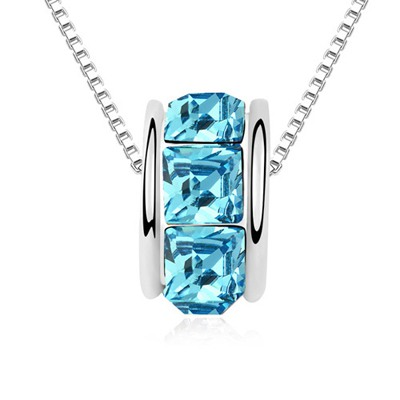 Kinetic Navy Blue Implied Meaning Return Of Love Austrian Crystal Crystal Necklaces