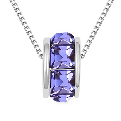 Invicta Tanzanite Implied Meaning Return Of Love Austrian Crystal Crystal Necklaces
