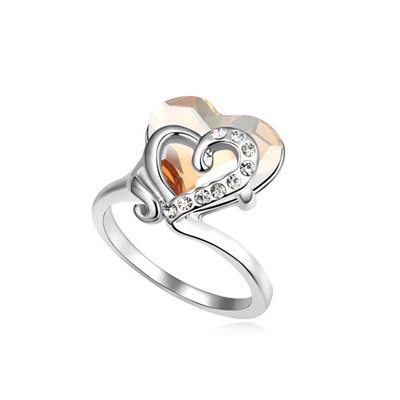 Pendant Gold Color Heart Link Heart Design Austrian Crystal Crystal Rings