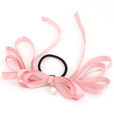 Special Pink Multilayer Butterfly Shape Design Rubber Band Hair band hair hoop