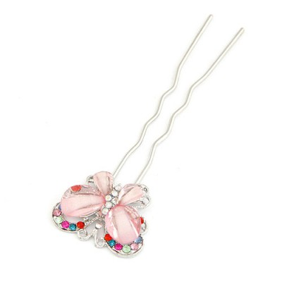 Volcom Pink Butterfly Shape Design Alloy Hair clip hair claw