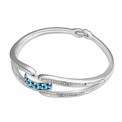 Bead Ocean Blue Simple Design Austrian Crystal Crystal Bracelets