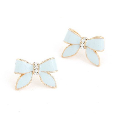 Sequined Light Blue Sweet Butterfly Shape Design Alloy
