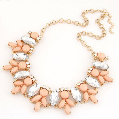 Foldable Orange Metal Inlaid Abstract Bee Design Alloy Bib Necklaces