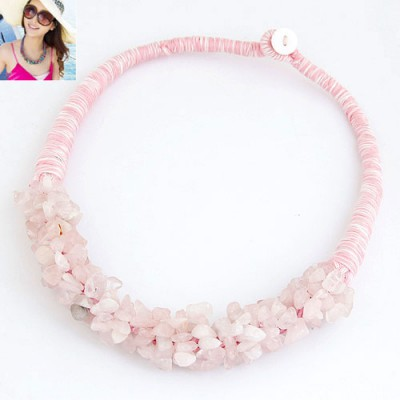 Sparking Pink Bohemian Style Personality All-Match Design Alloy Chokers