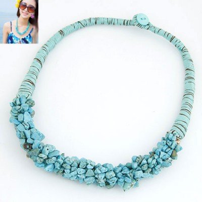 Designs Blue Bohemian Style Personality All-Match Design Alloy Chokers