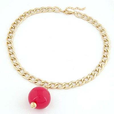 Parker Red Ball Decorated Simple Chain Design Alloy Chains