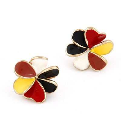 Carters Multicolor Sweet Flower Shape Design Alloy Stud Earrings
