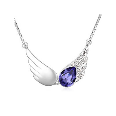 Woolrich Tanzanite The Wings Of The Angel Pendant Austrian crystal Crystal Necklaces