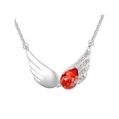 Misses Padparadscha The Wings Of The Angel Pendant Austrian crystal Crystal Necklaces