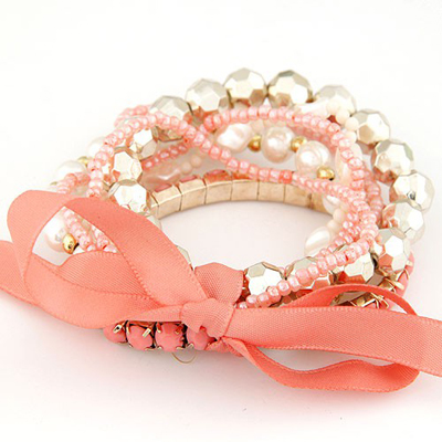 Pantsuit Orange Bohemia Style Big Bowknot Decorated Alloy Korean Fashion Bracelet