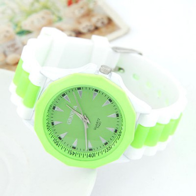 Cocktail Green Candy Color Geometric Shape Casual Design Alloy Ladies Watches