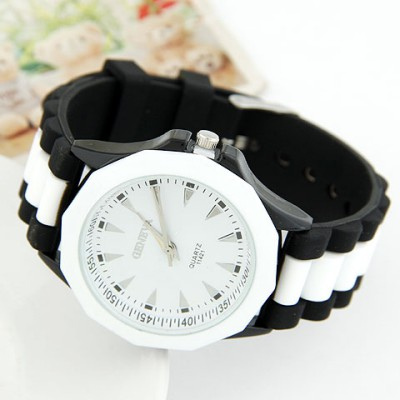 Mechanical Black Candy Color Geometric Shape Casual Design Alloy Ladies Watches