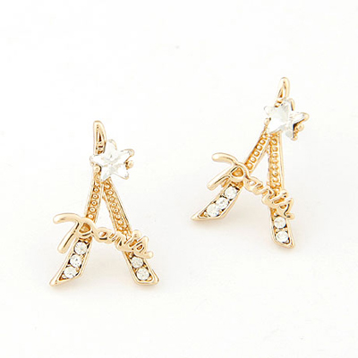 Propper gold color eiffel tower shape design