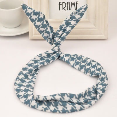 2013 blue rabbit ears design fabric Hair band hair hoop