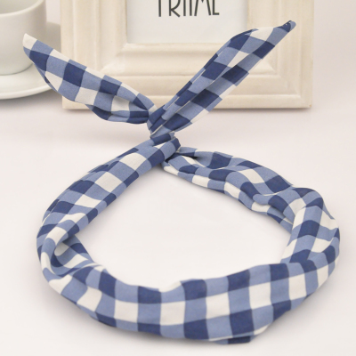 Fabulous blue rabbit ears design fabric Hair band hair hoop