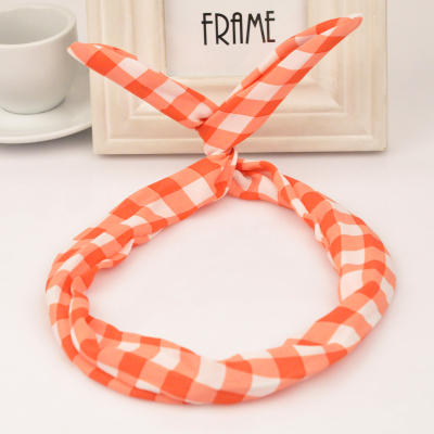 Dancing orange rabbit ears design fabric Hair band hair hoop