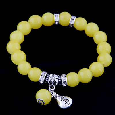 Papyrus yellow simple design alloy Korean Fashion Bracelet