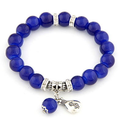 Elegant Sapphire blue simple design alloy Korean Fashion Bracelet