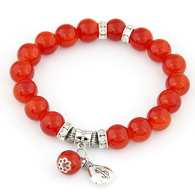 Scottish claret-red simple design alloy Korean Fashion Bracelet