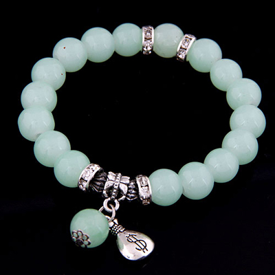 Fingerprin light blue simple design alloy Korean Fashion Bracelet