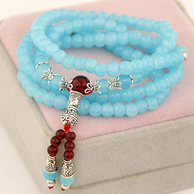 Energie sky blue multilayer simple design beads Korean Fashion Bracelet