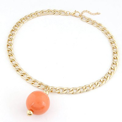 Handmade orange metal chains simple design alloy Chains