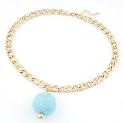 Contempora light blue metal chains simple design alloy Chains