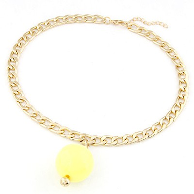 Sapphire yellow metal chains simple design alloy Chains