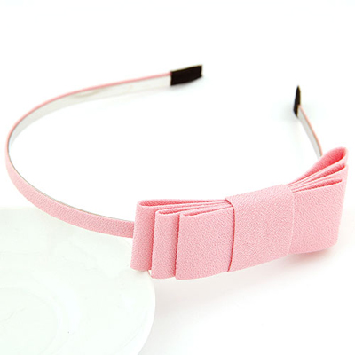 Rachel pink bowknotdecoratedsimpledesign alloy Hair band hair hoop