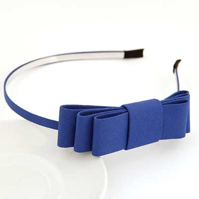 Urban blue bowknotdecoratedsimpledesign alloy Hair band hair hoop