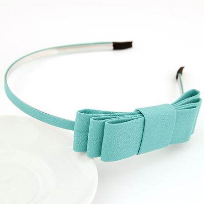 Ultra mintgreen bowknotdecoratedsimpledesign alloy Hair band hair hoop