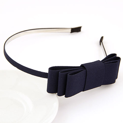 Luxurious navyblue bowknotdecoratedsimpledesign alloy Hair band hair hoop