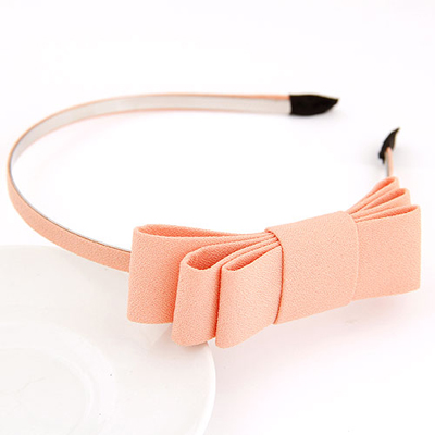 Lined orangepink bowknotdecoratedsimpledesign alloy Hair band hair hoop