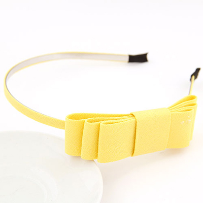 Piercing yellow bowknotdecoratedsimpledesign alloy Hair band hair hoop