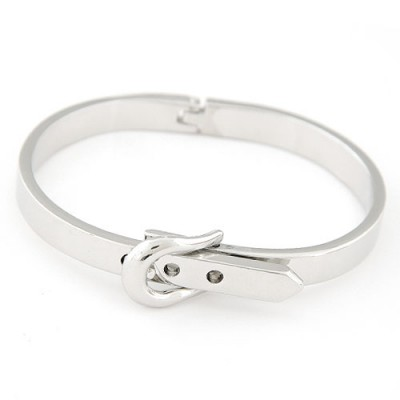 Dangle silver Belt buckle decorated simple design alloy Fashion Bangles