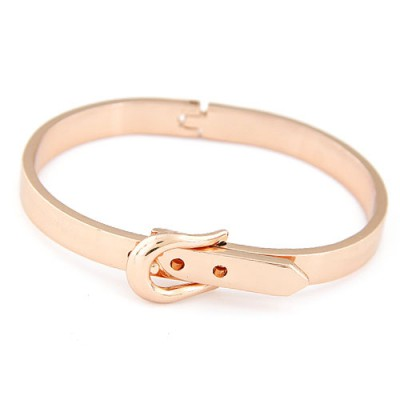 Genuine rose gold Belt buckle decorated simple design alloy Fashion Bangles