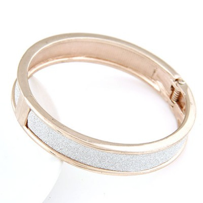 Outdoor rose gold round shape simple design alloy Fashion Bangles