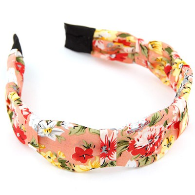 Aamazing multicolor flower pattern simple design fabric Hair band hair hoop