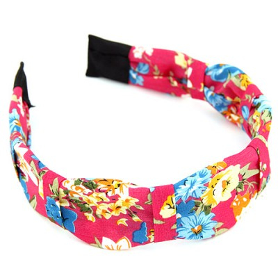 Decorative multicolor flower pattern simple design fabric Hair band hair hoop