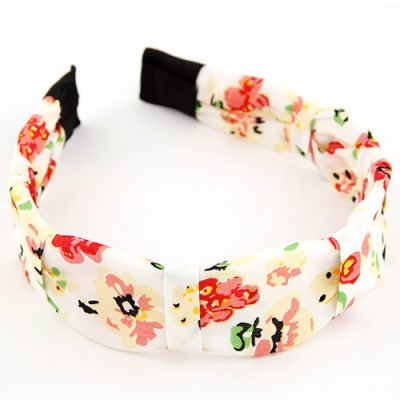 Bespoke multicolor flower pattern simple design fabric Hair band hair hoop