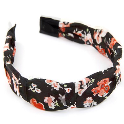 Short multicolor flower pattern simple design fabric Hair band hair hoop