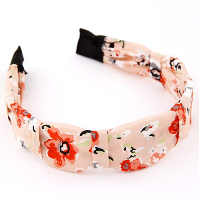 Double multicolor flower pattern simple design fabric Hair band hair hoop